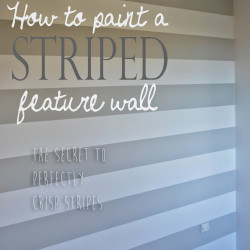 Theo's surprise nursery makeover Part One: How to paint a striped feature wall
