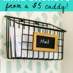 DIY industrial wire mail baskets