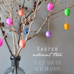 An Easter advent tree