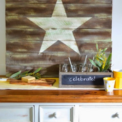 Weathered star wall art tutorial
