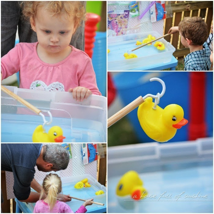 Pick a Duck game - what a great idea for a kid's birthday party, especially for a circus or carnival theme! Click through for more cute circus party ideas!