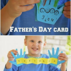 """I love you this much"" Father's Day craft!"