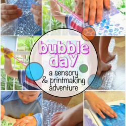 Bubble Day! A sensory and printmaking adventure