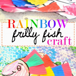 Rainbow Frilly Fish Craft