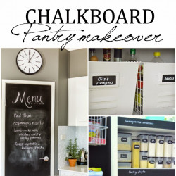 Chalkboard pantry makeover… and an announcement I Heart like crazy!