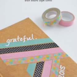 Gratitude journal with washi tape cover