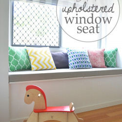 DIY Upholstered window seat