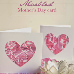 Marbled Mother's Day cards (that a kid can make!)