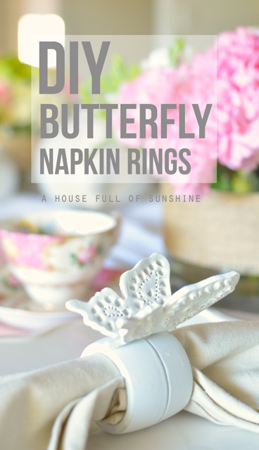 how to make a butterfly napkin