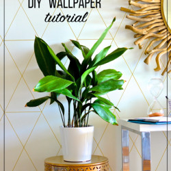 "How to make DIY ""wallpaper"" with a gold paint pen"