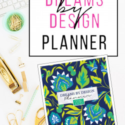 It's here… the 2016 Dreams by Design Planner!