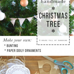 How to make it: A sweet and simple Christmas tree with handmade elements