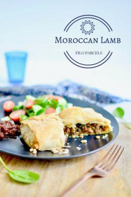 Moroccan Lamb filo parcels