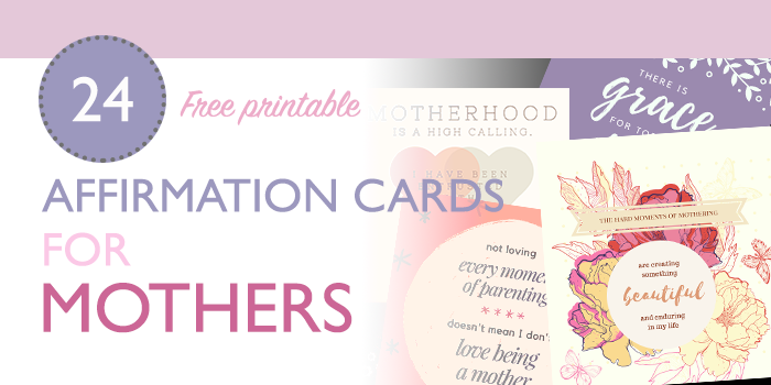 affirmation cards for mothers