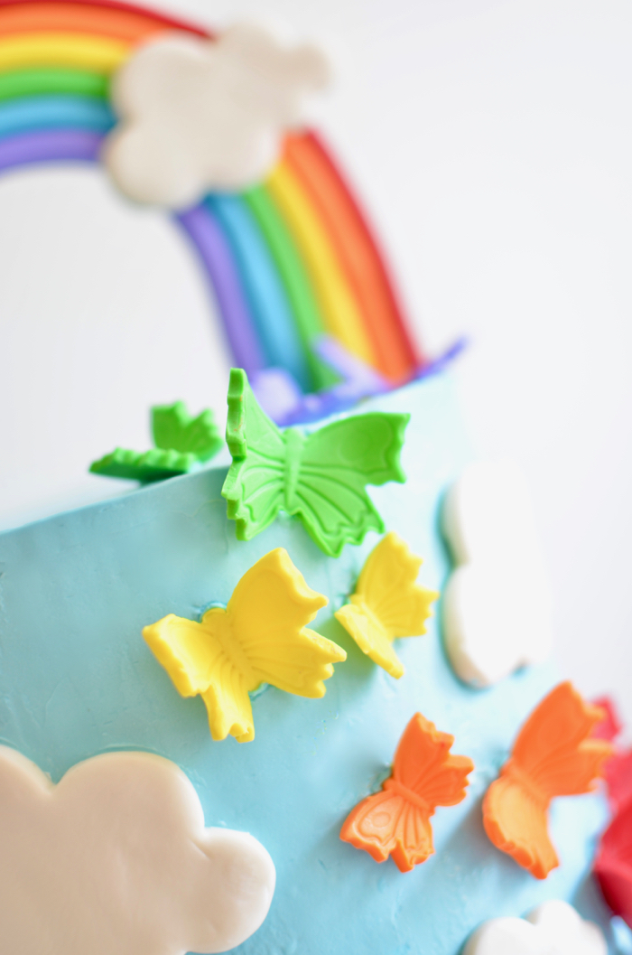 How to make a rainbow birthday cake
