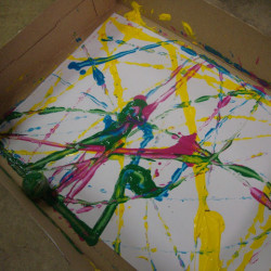 Fun with marbles #2 – Marble painting!