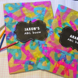 Back to school! Easy ABC book covers