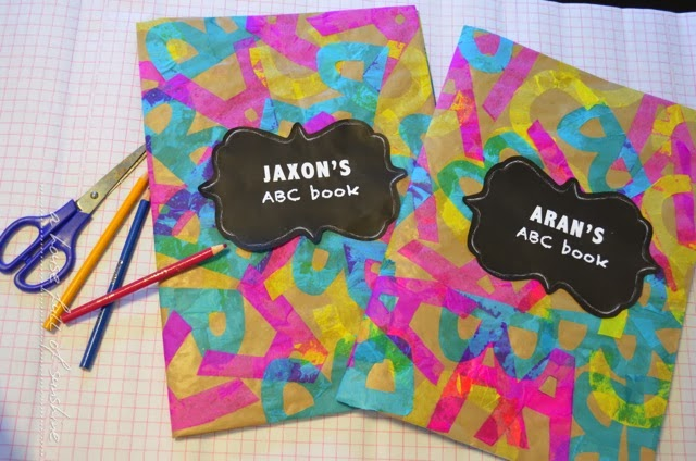 Creative Book Covers For School : Back to school easy abc book covers a house full of