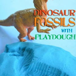Dino week – Dinosaur playdough fossils