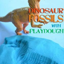 Dino week – Dinosaur playdough fossils