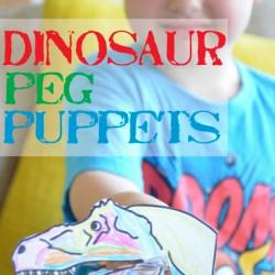 Dino week – Dinosaur peg puppets