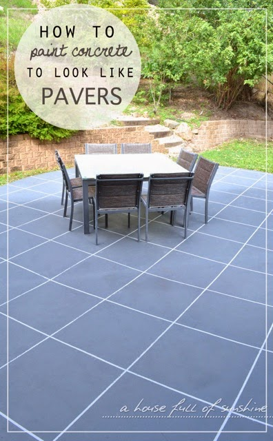 How To Paint Concrete Look Like Oversize Pavers