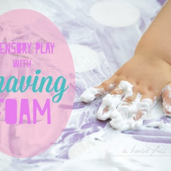 Summer holiday special – sensory play with shaving foam