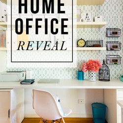 Home office makeover reveal!