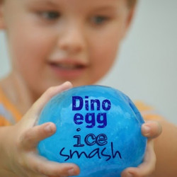 Dinosaur egg ice smash!