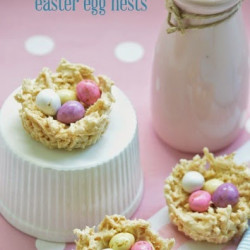 White chocolate Easter egg nests