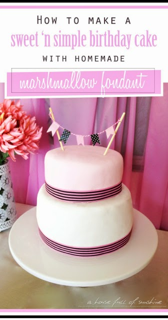 Phenomenal How To Make A Simple Birthday Cake With Home Made Marshmallow Funny Birthday Cards Online Inifodamsfinfo