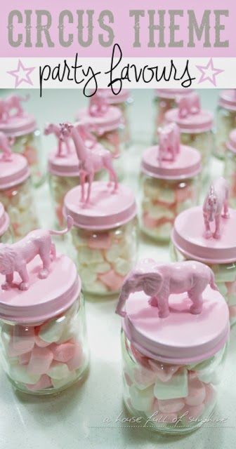 Pink Circus Themed Birthday Party Favours A House Full
