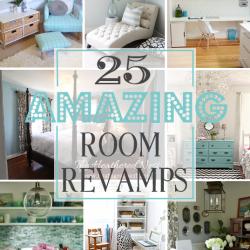 I've been featured! 25 Amazing Room Revamps