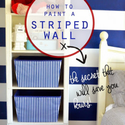 Guest feature – how to paint a striped wall!