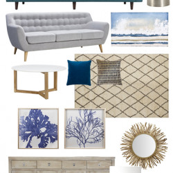 Our beach house…. a modern coastal mood board
