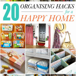 20 organising hacks for a happy home! (and a magazine feature!)
