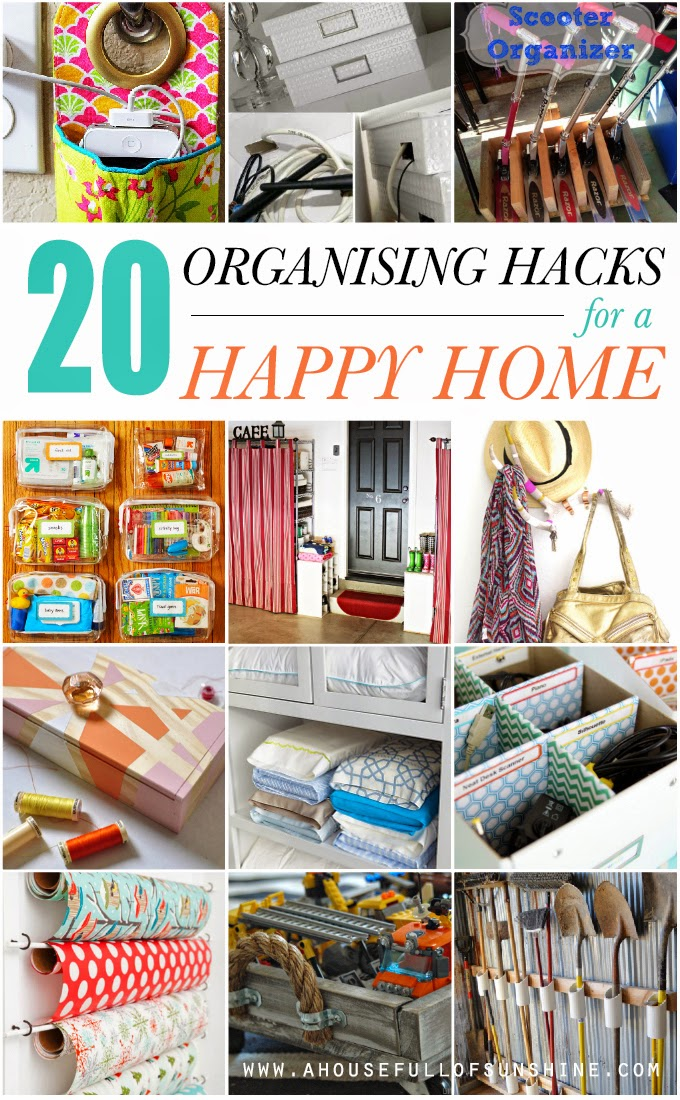 20 Organising Hacks For A Happy Home And A Magazine