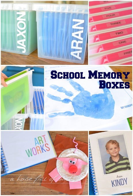 School Memory Boxes A House Full Of Sunshine