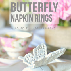Easy DIY filigree butterfly napkin rings