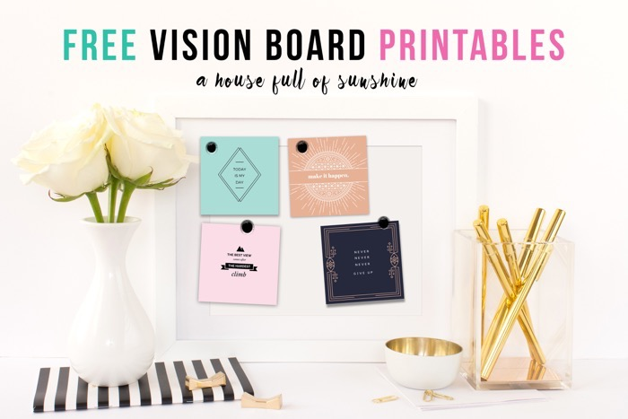 A house full of sunshine the art of making home for Vision board templates free
