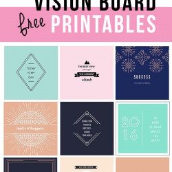 FREE 2017 Vision Board printables!