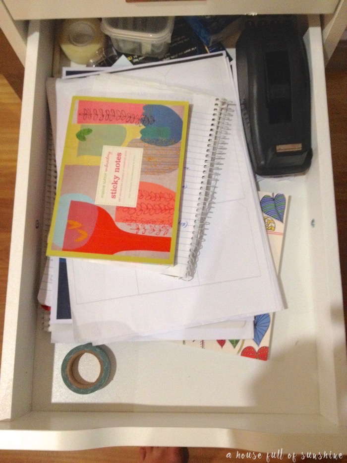 Study drawer organisation
