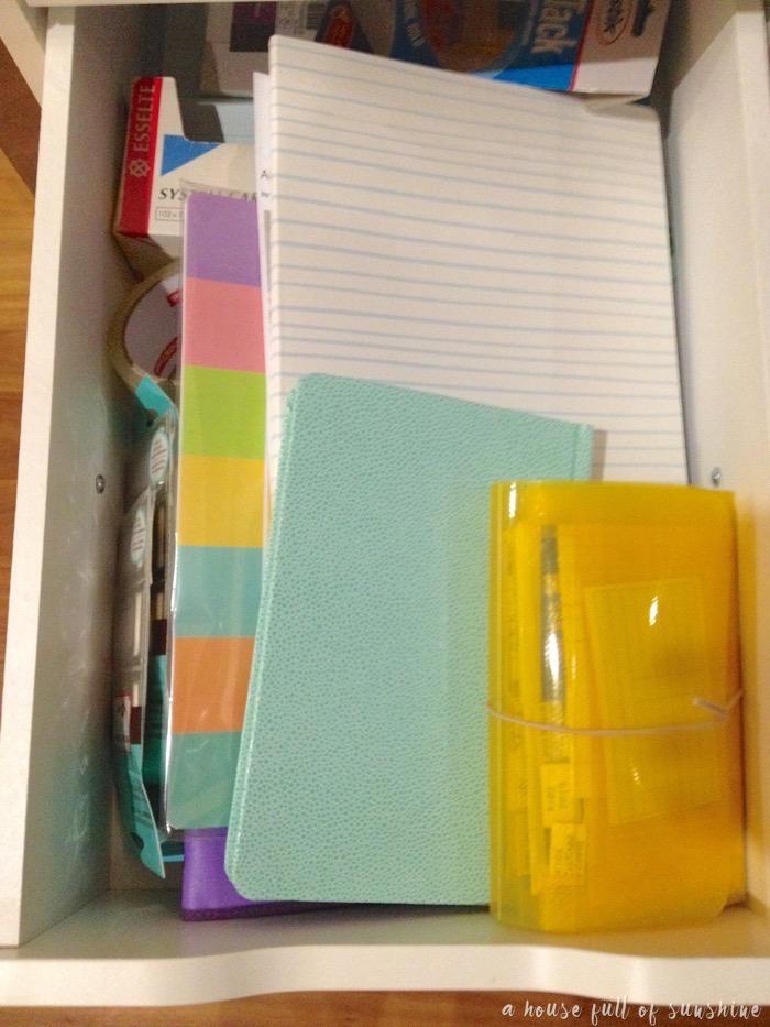Study drawer organisation