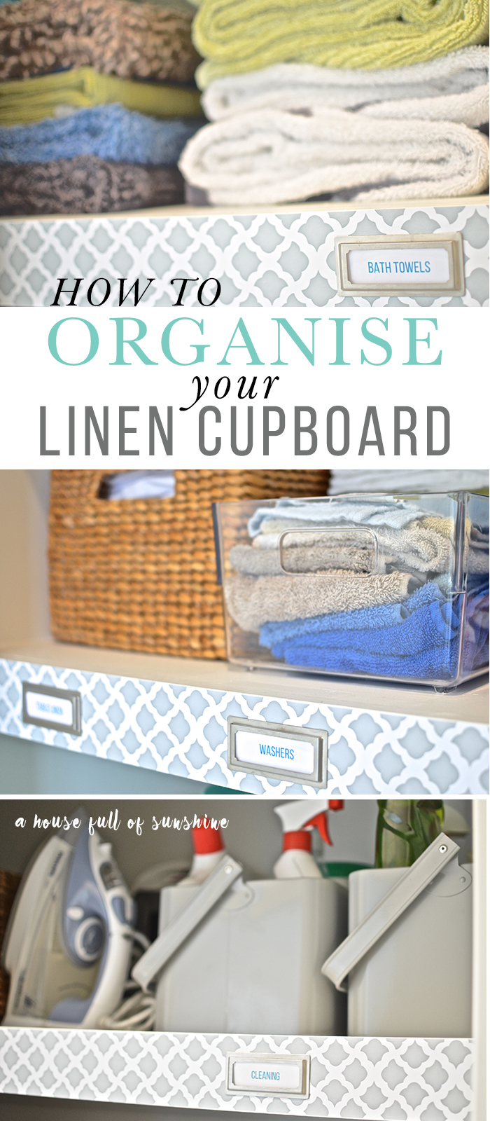 How to organise a linen cupboard