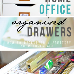 Office decluttering + desk drawer organisation