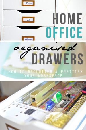Study drawer organisation pin