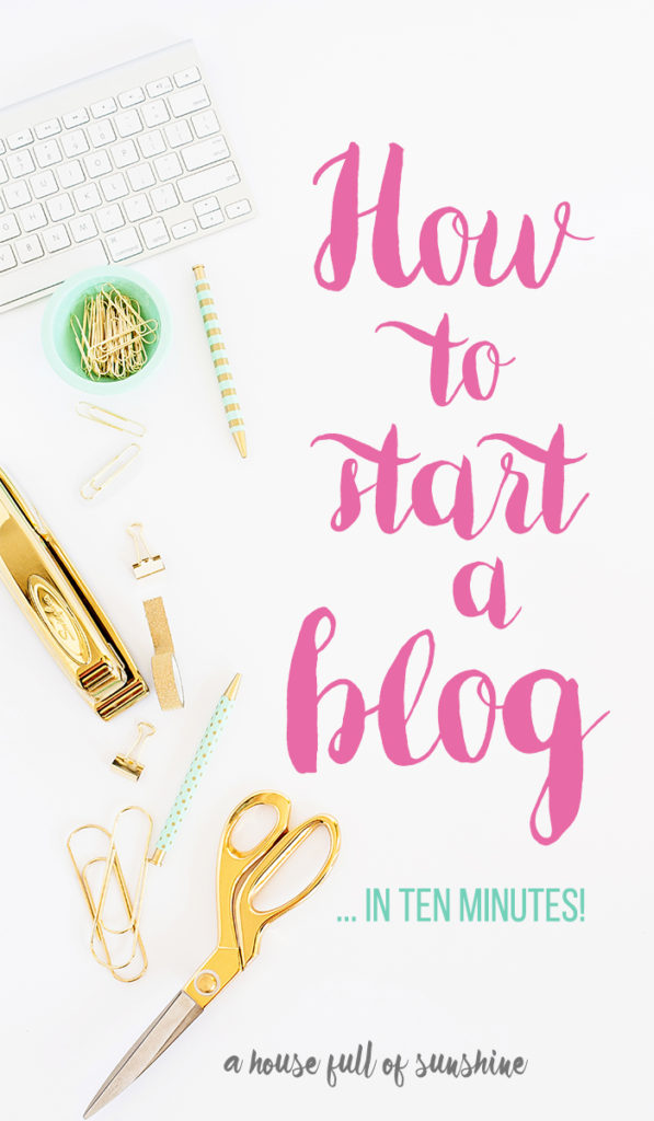 How to start a blog pin