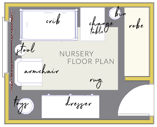 One Room Challenge Week 2 The Mood Board And Floor Plan