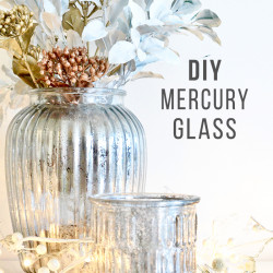 DIY Mercury Glass Christmas centrepiece
