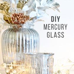 DIY Mercury Glass Christmas centrepiece